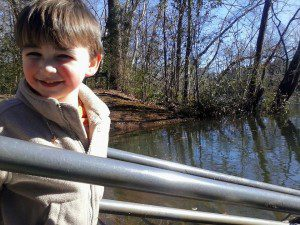 Will, posing patiently for Mom before throwing rocks in the Saluda River