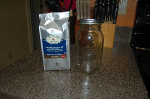 All you need is a bag of coffee and a mason jar.