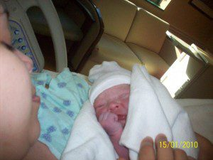 Nathaniel on the day he was born.