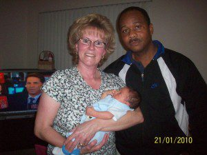 My parents and Nathaniel on the day we got to bring him home.