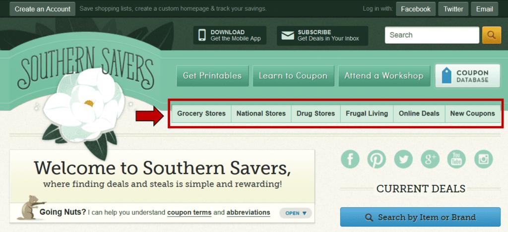 southern savers site