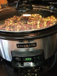 Cooking dinner in a slow cooker means you can prepare it and forget about it until it's time to eat!