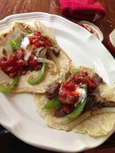 Steak fajitas are quick, easy, and CHEAP! You'll balk at restaurant prices when you find out how cheap it is to make your own!