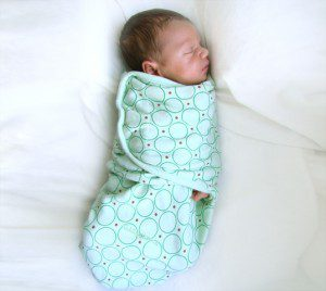 The SwaddleMe makes swaddling incredibly easy