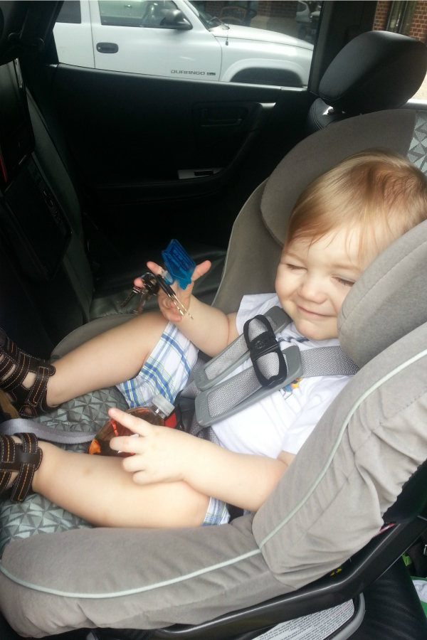 My son, Remy, at 17 months old. He was still in a rear-facing seat at over  98th percentile in height and weight.