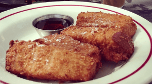 Great for practicing fork skills ... or for the on-the-go eater (minus the syrup).