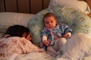 tired mom, awake baby, sleepless nights