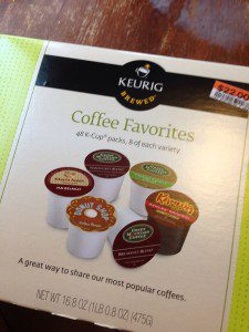 K-cups at Big Lots. Never found them before, may not ever find them again. But they were a super deal!