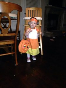 Lucie was a Candy Corn last year.  If we had planned in advance better, Jonathan and I could have been different types of candy too.