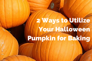 2 ways to utilize your halloween pumpkin for baking