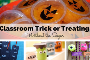 classroom trick or treating without the sugar