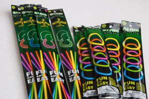 Adding a cute printable to some glow sticks will light up a child's Halloween!