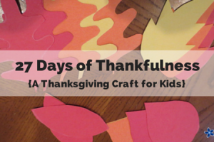 27 days of thankfulness kids craft thanksgiving tree