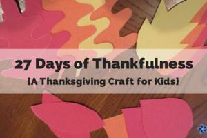 27 days of thankfulness kids craft thanksgiving tree