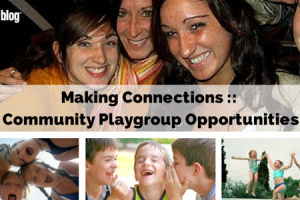 making connections community playgroup opportunities
