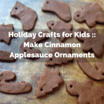 Holiday Crafts for Kids :: Make Cinnamon Applesauce Ornaments