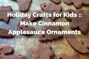 make cinnamon applesauce ornaments