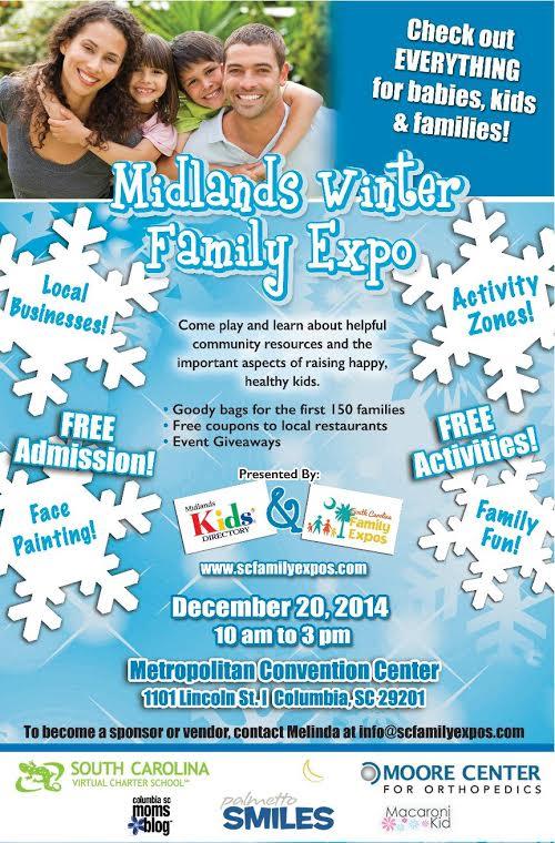 midlands winter family expo flyer