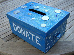 Gather lose change around the house and let the kids pick which charity to donate to.
