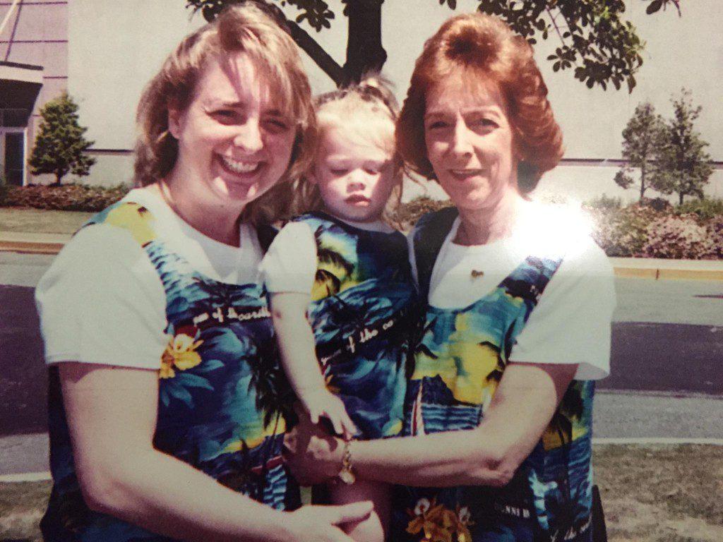 Caroline, Mom and I