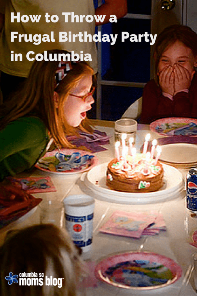 how to throw a frugal birthday party in Columbia