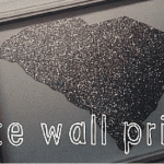 Easy DIY South Carolina Wall Art