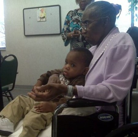 My grandmother Christine with my son Grayson in 2009 a few months before she died