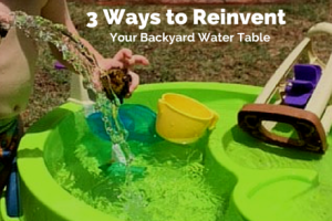 three ways to reinvent your backyard water table