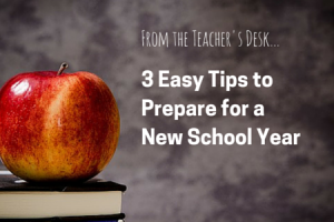 3 tips to prepare for a new school year