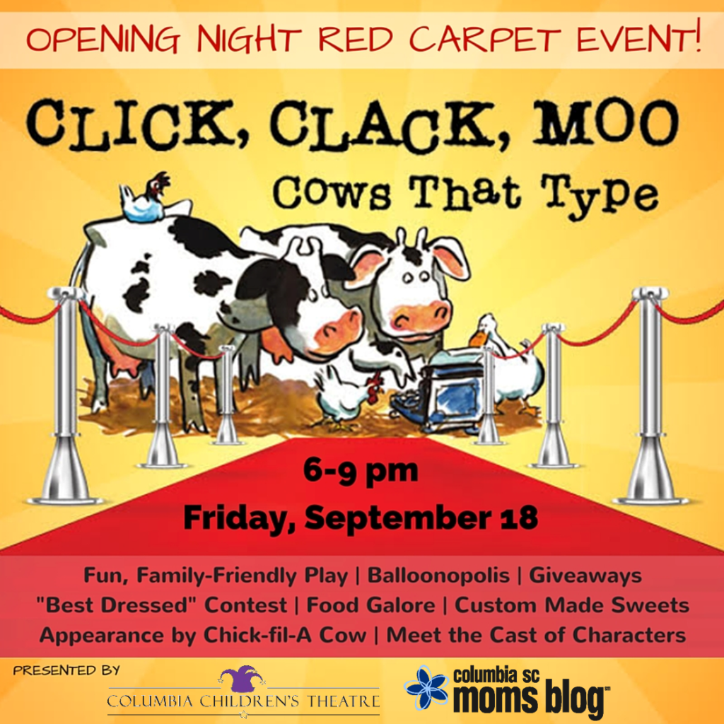 Click Clack Moo Red Carpet Event Detailed Graphic