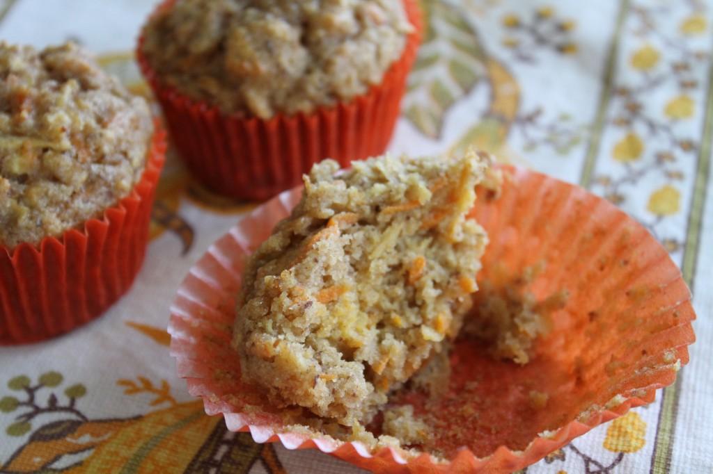 Gluten-Free Apple Carrot Muffins