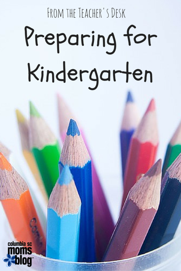 from the teacher's desk preparing for kindergarten