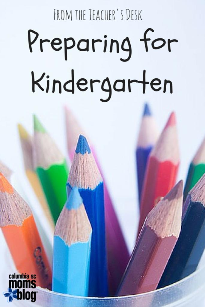 from the teacher's desk preparing for kindergarten