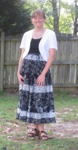 Skirt: Roundabout Consignments Tank and shrug: Walmart