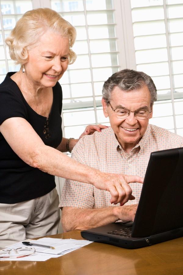 grandparent on computer