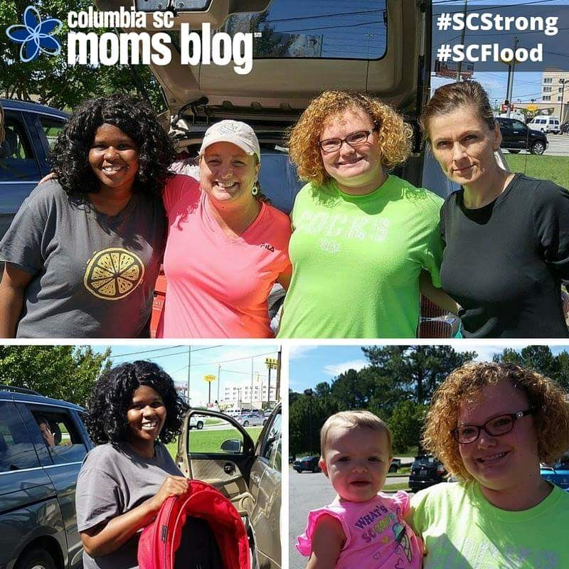 Natasha Brown, Lori Clarke, and myself met earlier today to give Natasha items to take to a shelter.