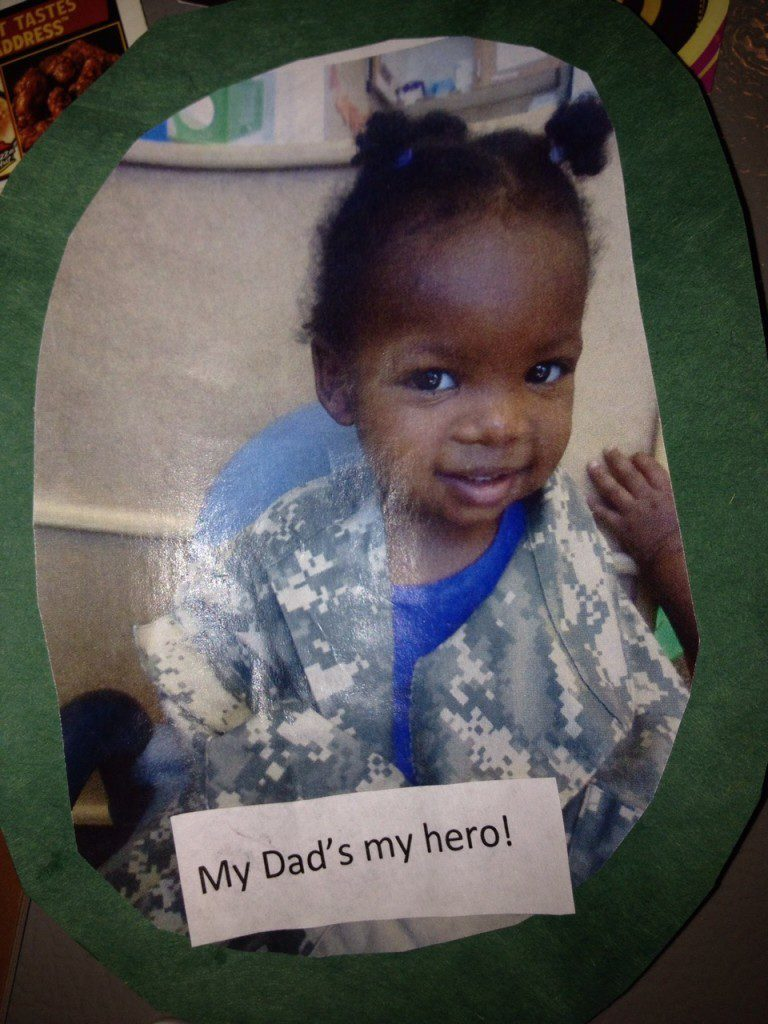 Our Daughter Corinne 1st tribute to her dad, Curtis for Veteran's Day