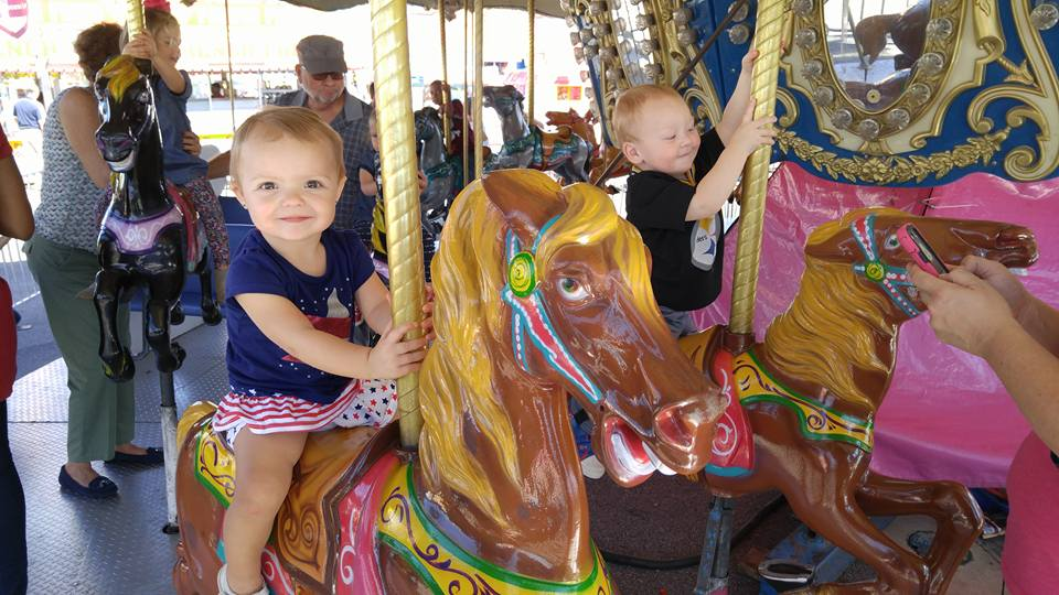 The carousel is a toddler favorite at the fair!