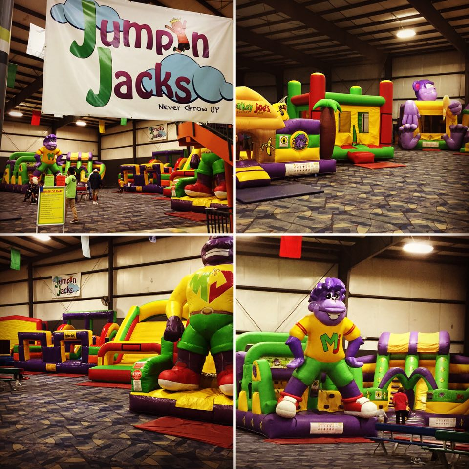 The Plex in Northeast Columbia houses Jumping Jacks, an indoor inflatable jump area for kids.