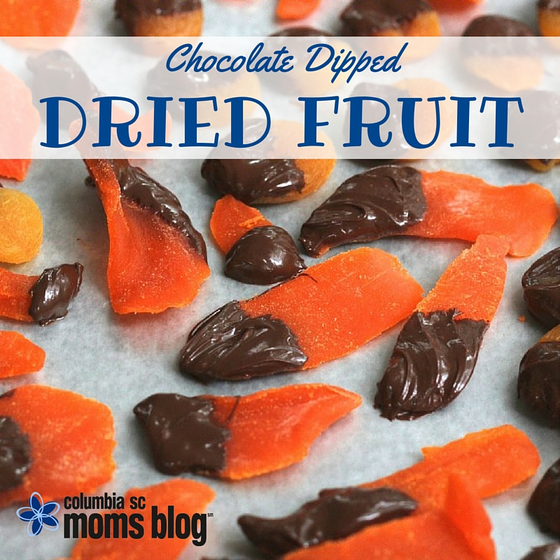 Chocolate Dipped Dried Fruit - National Apricot Day - Columbia SC Moms Blog