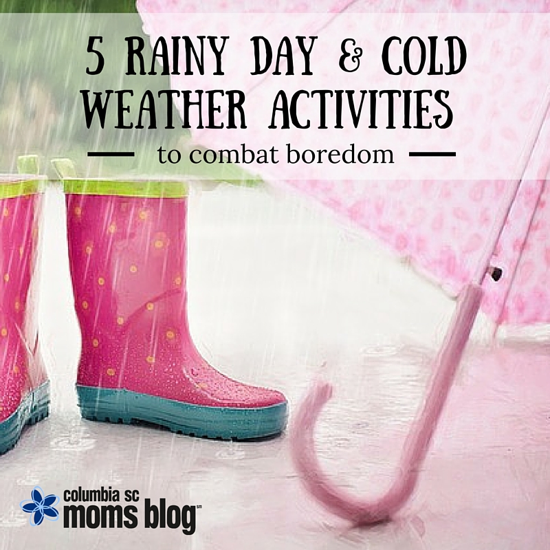 5 Rainly Day and Cold Weather Activites to combat boredom - Columbia SC Moms Blog