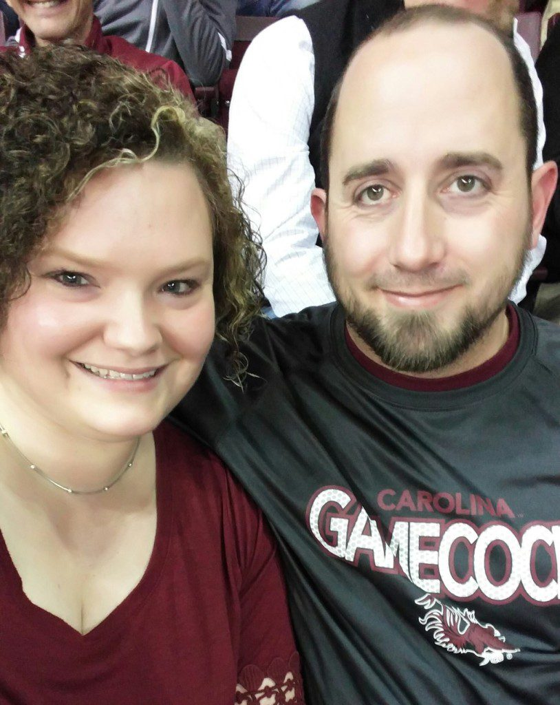 On a recent date night to watch the Carolina Gamecocks play!