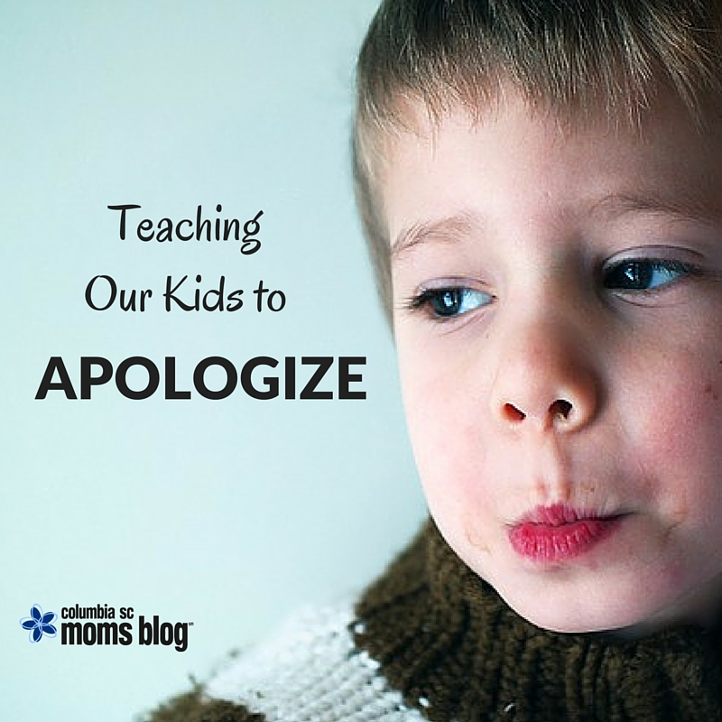 Teaching Our Kids to Apologize - Columbia SC Moms Blog