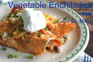These Vegetable Enchiladas are a cinch to make and perfect for celebrating Cinco De Mayo! {Columbia City Moms Blog}