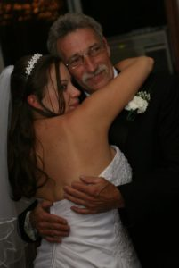 My daddy and me at my wedding