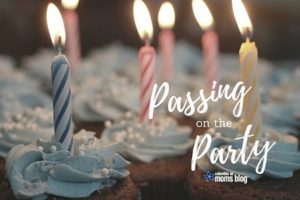 Passing on the Party - Columbia SC Moms Blog