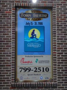 Town Theatre sign for The Little Mermaid