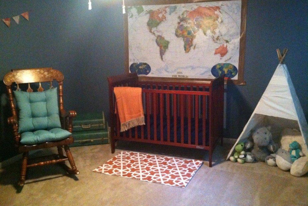 baby boy travel themed nursery