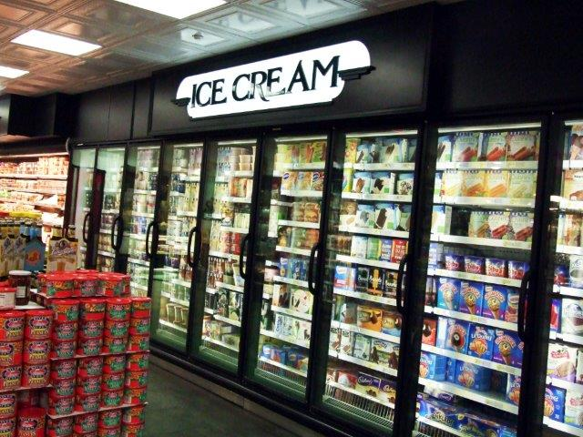 ice cream aisle