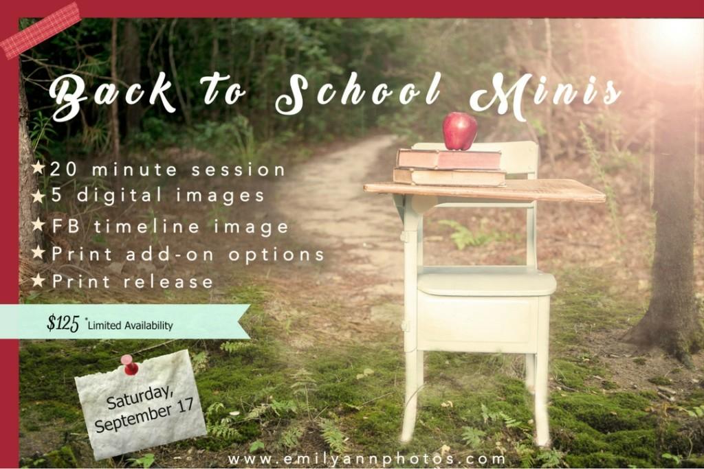 back to school minis - Emily Ann Photography & Columbia SC Moms Blog